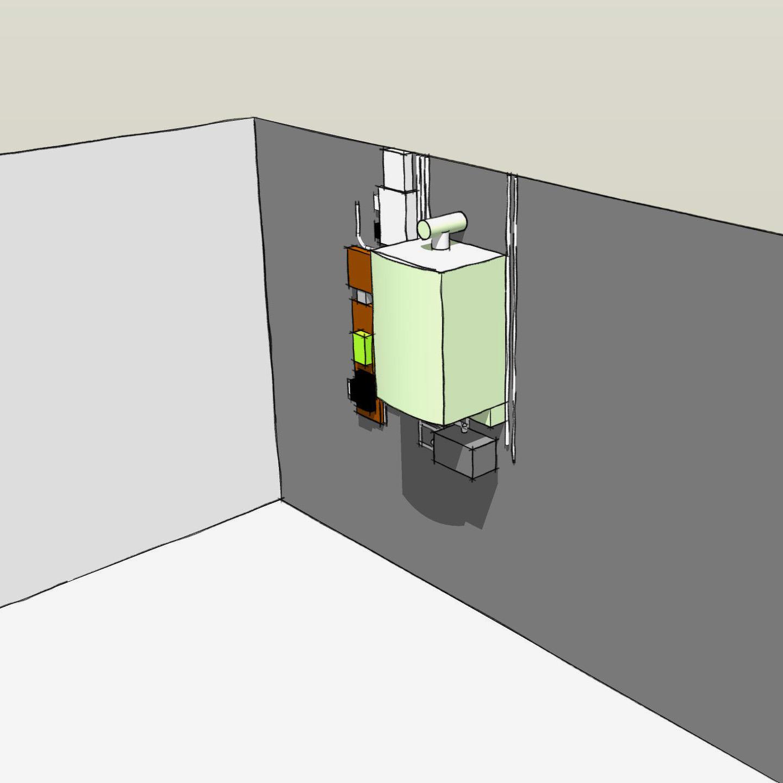 meuble d'entrée sur mesure - dessin montage 1