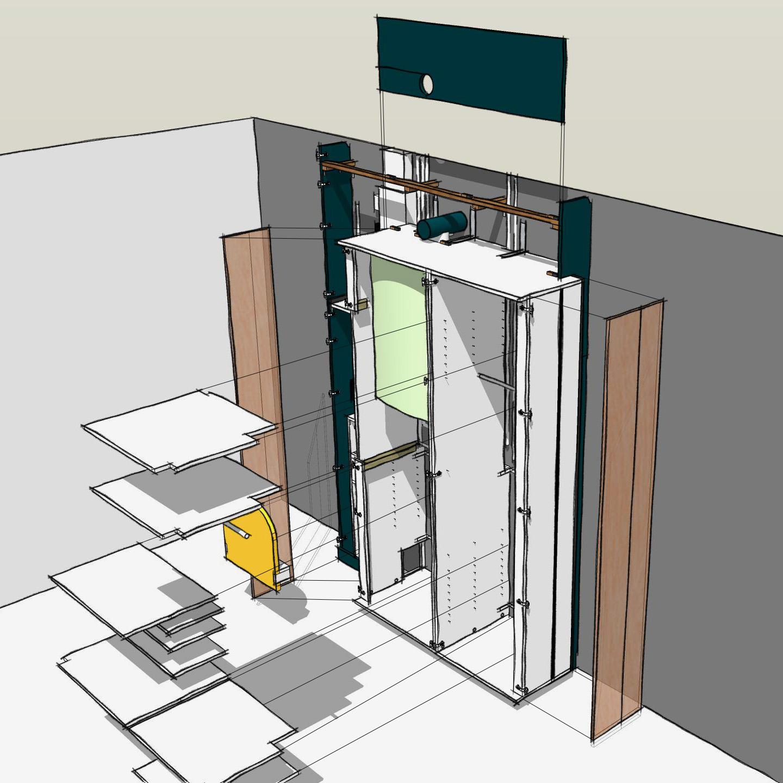 meuble d'entrée sur mesure - dessin montage 4