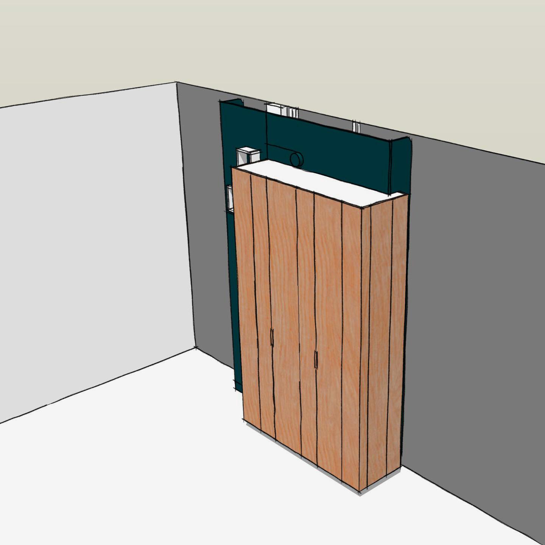 meuble d'entrée sur mesure - dessin